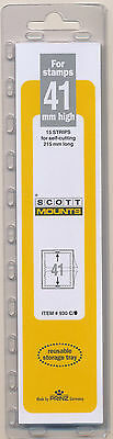 Prinz Scott Stamp Mount 41/215 CLEAR Background Pack of 15