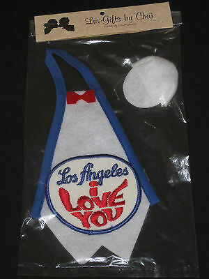 Luv-Gifts By Char Doll Cloths Los Angeles I Love You Apron With Baseball Hat NEW
