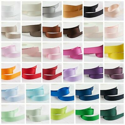 Full 25m Reel Shindo GROSGRAIN Ribbon Hair Bows Crafts