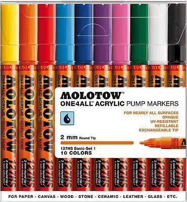 Molotow One4All 127Hs 10 Piece Drawing Marker Pen Set - Basic Set 1