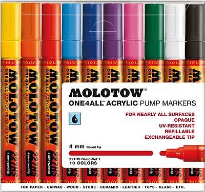 KIT 1 MAIN COLOURS MOLOTOW ONE4ALL 227HS 12 PIECE MARKER SET