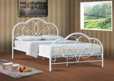 Alexis 4ft, 4ft6 & 5ft  White Metal Bed Frame Bedstead