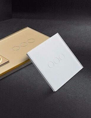 I LumoS Luxury Glass Panel Design Touch, Dimmer, Remote & WIFI/4G Light Switches