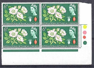 GB = Constant Variety, 1964 6d Botanical Congress. (Ord.) R20/5. MNH T/L Block/4
