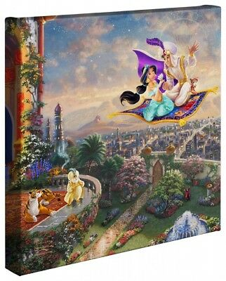 Thomas Kinkade Studios Disney Aladdin 14 x 14 Gallery Wrapped Canvas
