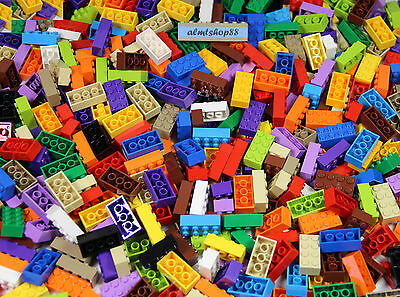 LEGO - All 2x4 Bricks - Assorted Colors Basic Building Blocks Bulk Lot Pound