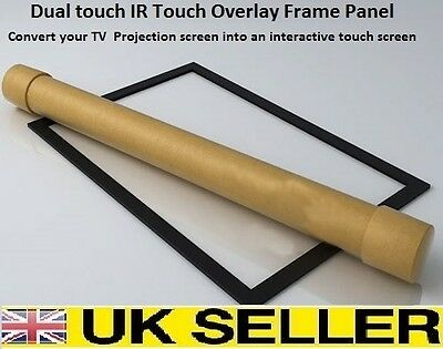 """Dual touch IR  Overlay Touch Screen Frame Panel Interactive 32"""" to 82"""" 16:9"""