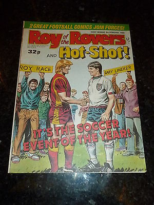 ROY OF THE ROVERS & HOT-SHOT!  - Year 1989 - Date 04/02/1989 - UK Paper Comic