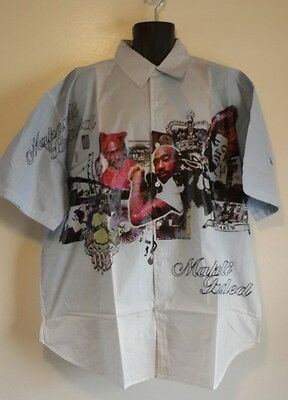 Makaveli Men's Graphic Button Front Shirt Size 3X - NWT