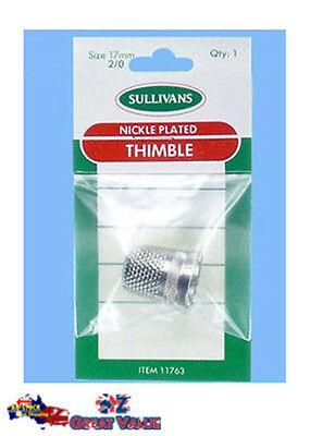 17mm Nickel Plated Thimble Sewing Accessories Quilting Craft DIY No.11763