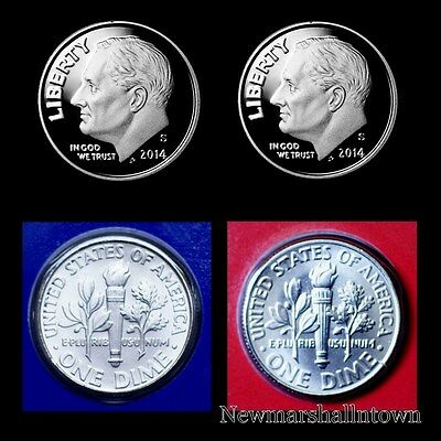 2014 P+D+S+S Roosevelt Dime Silver & Clad Proof Mint Set ~ PD in Mint Wrap