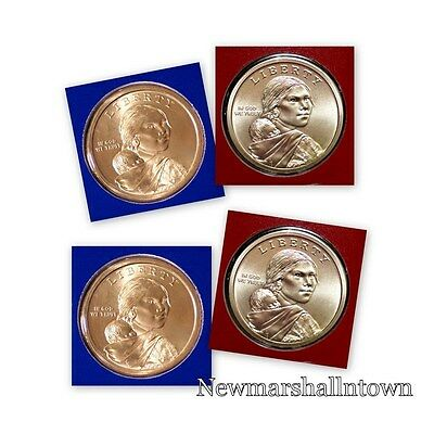 2014 P+D Native American Sacagawea Pos A+B Set ~ PD in Original Mint Wrap