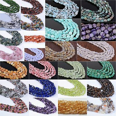 """4mm-9mm Natural gemstone Pebble Chips loose beads 16""""  Amazonite Charoite agate"""