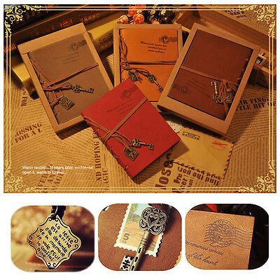 Retro Classic Leather Vintage Bound Blank Pages Diary Journal Diary Notebook