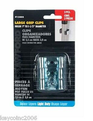 Crawford Small Grip Broom and Tool Clips 5 pack #13200   NEW