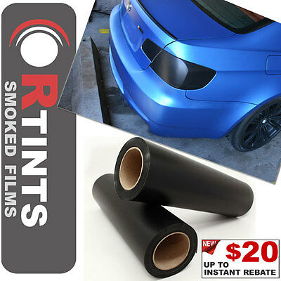 """Pro 48""""x12"""" Matte Smoke Tinted Film Sheet Vinyl Overlay Cover for Acura & more"""