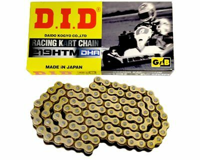 DID DHA 219 Pitch HTM G&B Chain 104 Links Go Kart Karting Race Racing