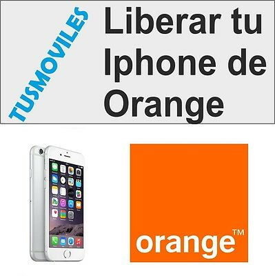 Libera Liberar Iphone Orange 5S 5C 5 4 4S 3GS 3 todos los modelo 6 6 Plus