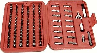 100 PC SCREW DRIVER BIT  SECURITY BITS SET TORX, STAR, POZI, PHILLIPS