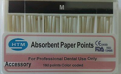 Absorbent Paper Points M Accessory Box of 180 HTM Dental