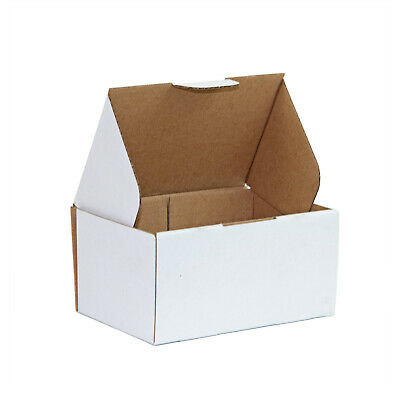 100 Mailing Box Die Cut Die-Cut Cardboard 150x100x70mm * White Box 150x100x75mm