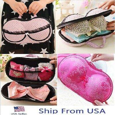 Women Portable Protect Bra Underwear Lingerie Case Travel Organizer Bag