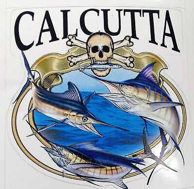Calcutta Grand Slam Decal for Trucks/Cars/Boats Color Offshore Fish/Skull Design