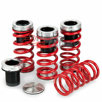 "Vw Jetta/golf Gti A3 Typ 1H Black Scaled Coil Over Red Lowering Spring 1-4""drop"