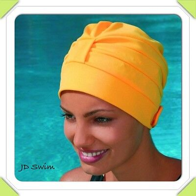 Ladies Swimming Hat/Cap/Turban Adjustable with Velcro New By Fashy 3473