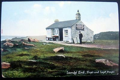 UK~ENGLAND~1900's CORNWALL ~ LANDS' END ~ FIRST AND LAST REERS SHVENT HOUSE