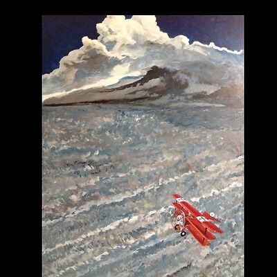Red Baron Original Painting Fine Art