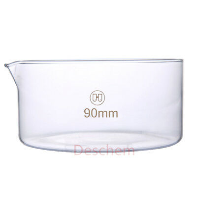 90mm*45mm,Glass Crystallizing Dish,Heavy Wall,New Laboratory Chemistry Glassware