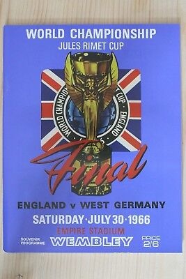1966 World Cup Final Programme *(England V West Germany)* (Re-Print)