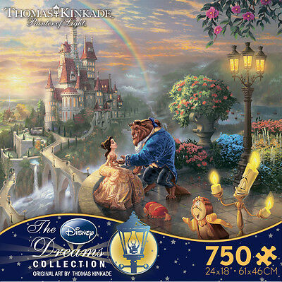 Thomas Kinkade Beauty and the Beast Falling in Love 750 Ceaco Puzzle Disney