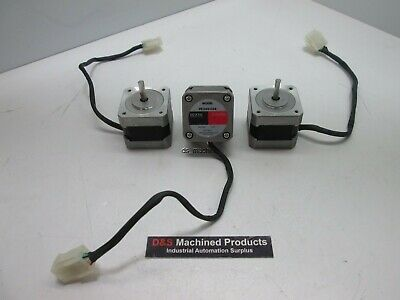 Lot of 3 Vexta PK244-03A 2-Phase Stepper Motor 1.8º, DC 0.4A 30 Ohms, 5mm Shaft