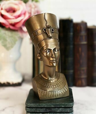 Queen of Egypt Nefertiti Beautiful Goddess Bust Sculpture Bronze Color Statue