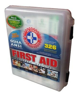 First Aid Kit 326 Pieces OSHA - ANSI Compliant - New & Sealed - Free Shipping