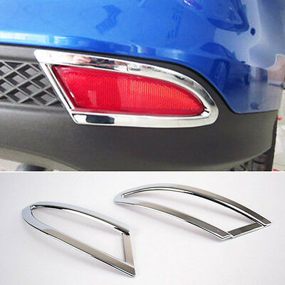 Fit For Ford Focus Sedan 12-14 Chrome Rear Reflector Fog Light Lamp Cover Trim