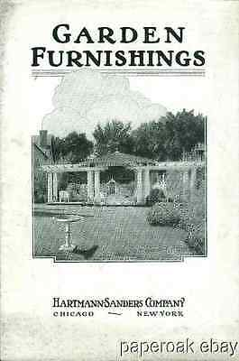 Original Garden Furnishings By Hartmann-Sanders Co. Catalogue ca.1920
