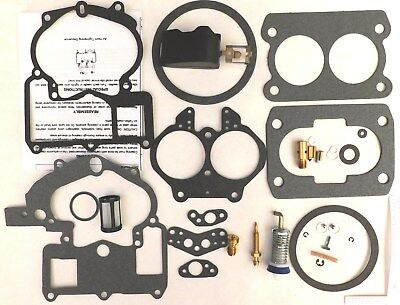 Mercarb Mercruiser Marine 2 Barrel Carburetor Repair Kit w/ FLOAT 3302-804844002