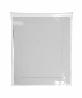 PACK OF 5 Acid Free White Bevel Cut Mounts & Backing Boards & Self Seal Bags