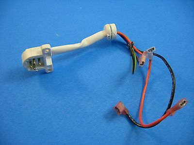 WR23X10055-GE Refrigerator Auger Dispenser Receptacle/Wire Connector; A6-3c