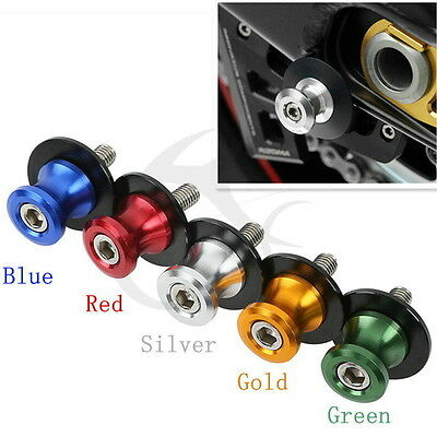6mm CNC Red Swing Arm Sliders Spools For Yamaha FZ 8 FJR 1300 MT-01 R6S V-MAX