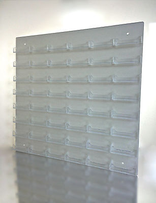 48 Pocket Clear Acrylic Wall Business Card Holder Display Rack Space