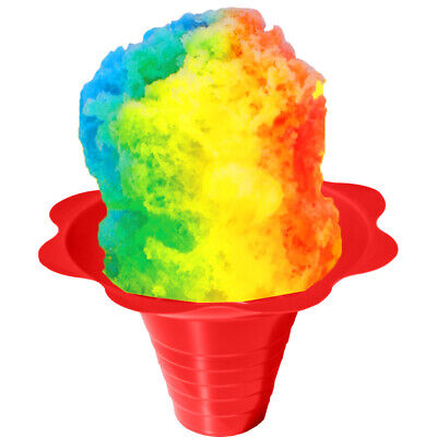 Shaved Ice or Snow Cone  Flower Cups, Case of 1000, 4 Colors, ***FREE SHIP****