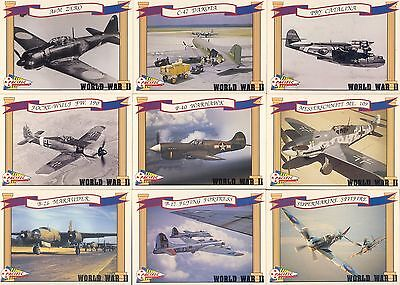 WORLD WAR II 2 1992 PACIFIC TRADING CARDS INC COMPLETE BASE CARD SET OF 110
