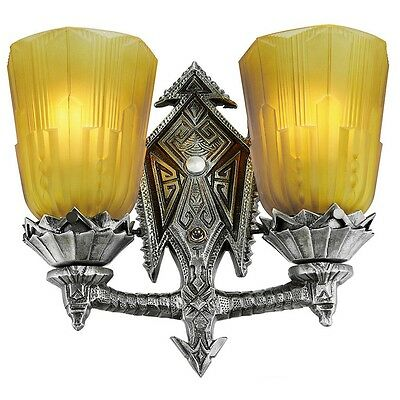 Art Deco Style Antique Replica 2 Light Wall Sconce Lighting (178-ZN-DES_0319AMG)
