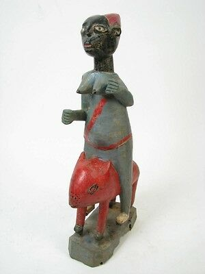 GothamGallery Fine African Art - Ivory Coast Baule Riding Sculpture R