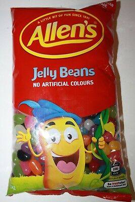 Allens Jelly Beans Fruity Craze 1kg Bulk Bag