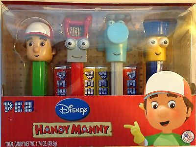 Pez Retired Handy Manny Set of 4 - Mint in Box - MIB